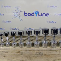 BodyLine Chromed dumbbels
